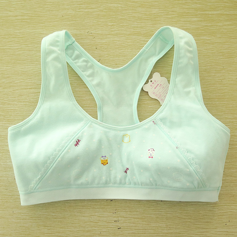 Color classification: Cat figure light green bra