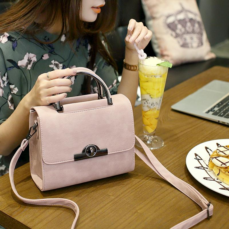 2016新款女包韩版时尚小方包斜挎包锁扣手提包