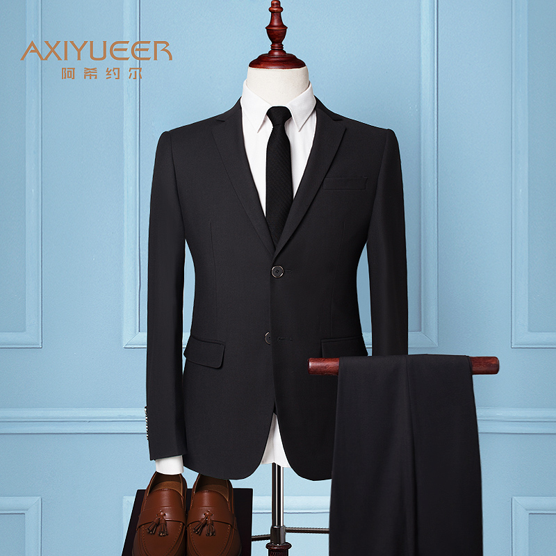 Color: Double buckle black (suit + trousers) + 9 gift