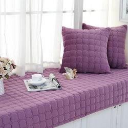 加厚长毛绒飘窗垫 窗台垫子定做防滑阳台垫订制简约现代榻榻米垫