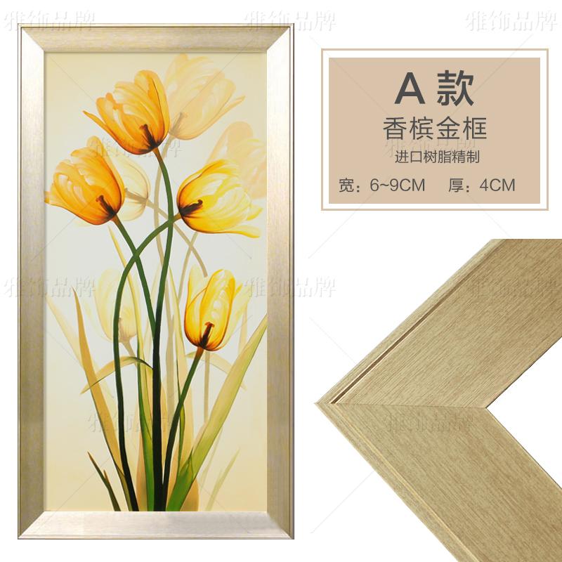 欧挂画简约现代抽象画花卉 纯手绘油画
