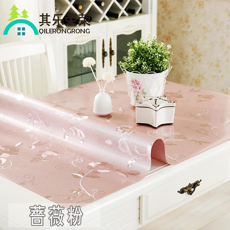 防水防烫透明餐桌加厚水晶板