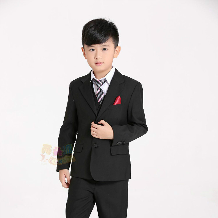 Color classification: Black 5 piece set: tie jacket vest pants shirts