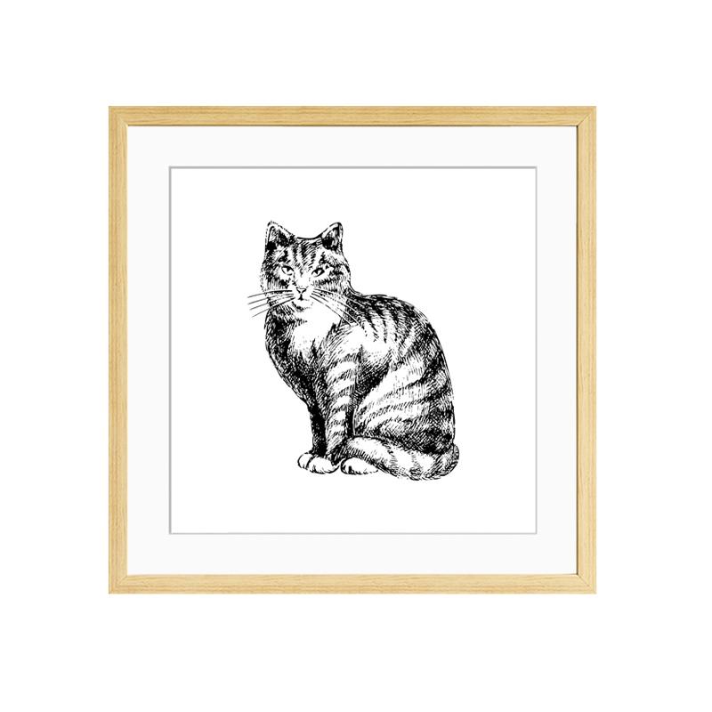 动物装饰画客厅房间组合墙画餐厅酒店装饰挂画 个性黑白素描