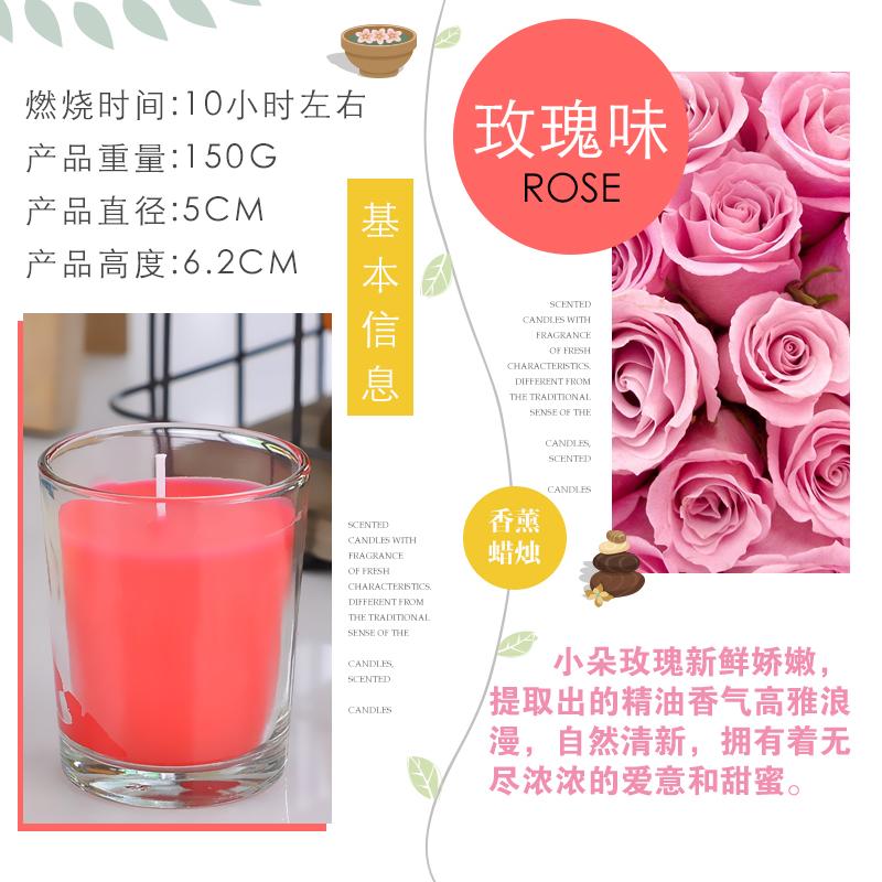 Цвет: Розы красные стекла свеча 6