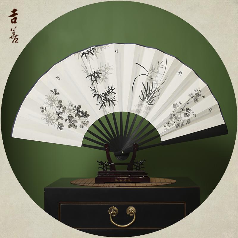 Цвет: Черный бамбук слива, Орхидея, бамбук и хризантемы