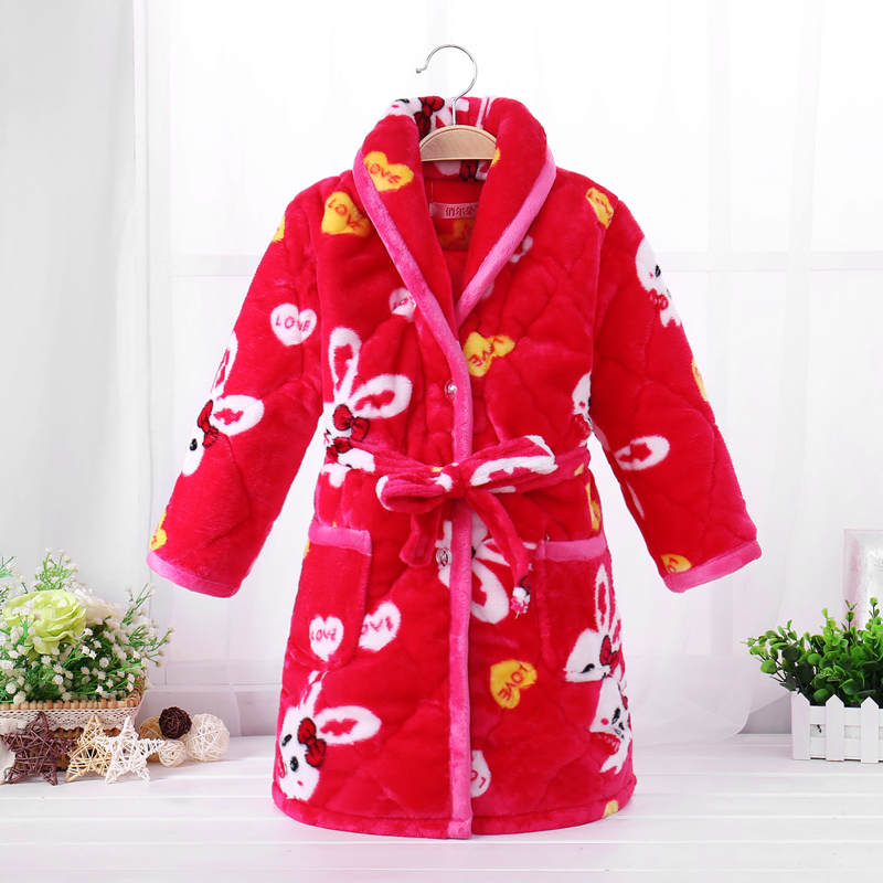 Color classification: Quilted robe, red rabbit