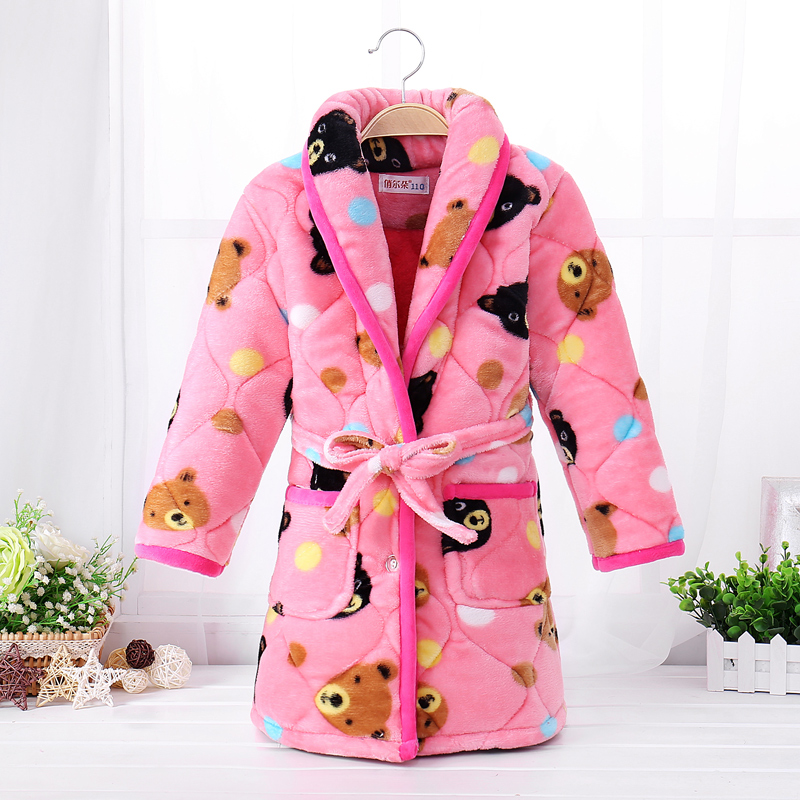 Color classification: Quilted Robe Pink bear