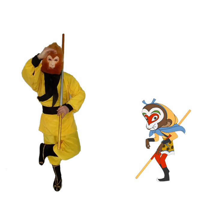 Color classification: Monkey clothes + mask + weapon