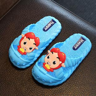 儿童拖鞋夏男女可爱浴室内洗澡防滑家居卡通宝宝居家用小孩凉拖鞋