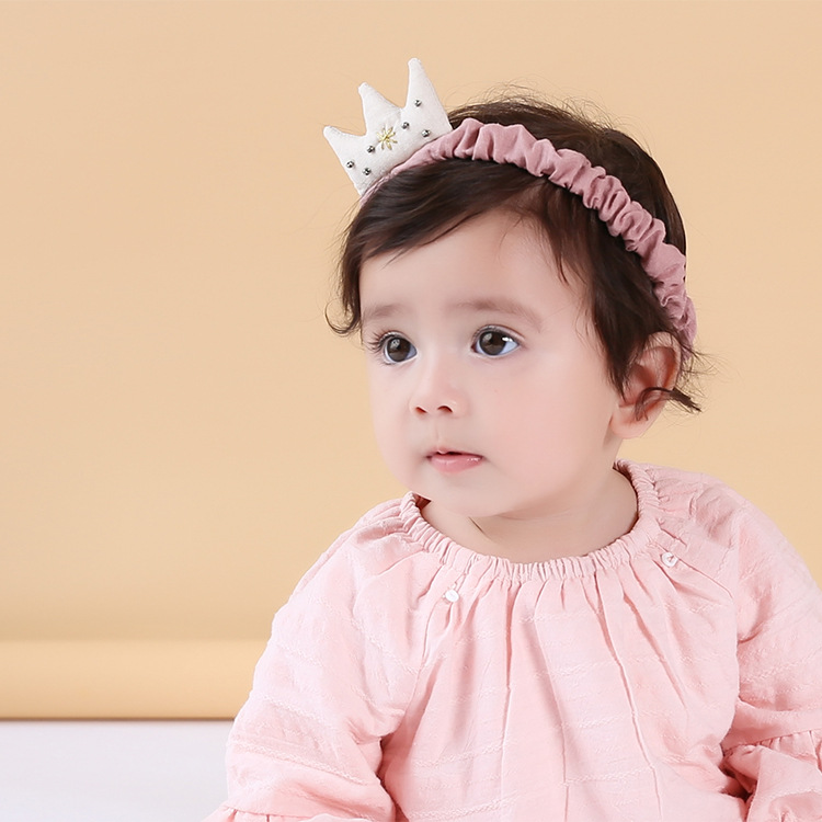 Color classification: M white cotton Ribbon Crown pink