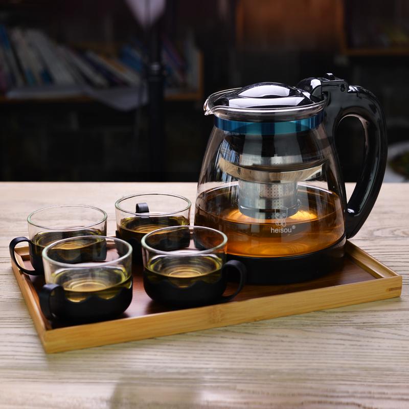 Цвет: 2000мл один горшок+4 чашки+1 чай лоток