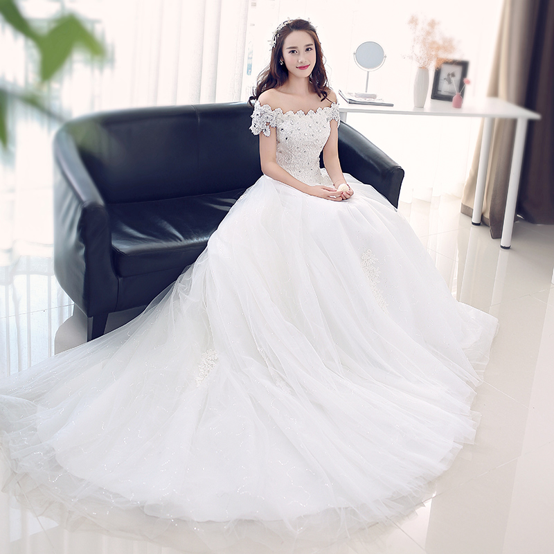 Color: 1707 tail wedding dress