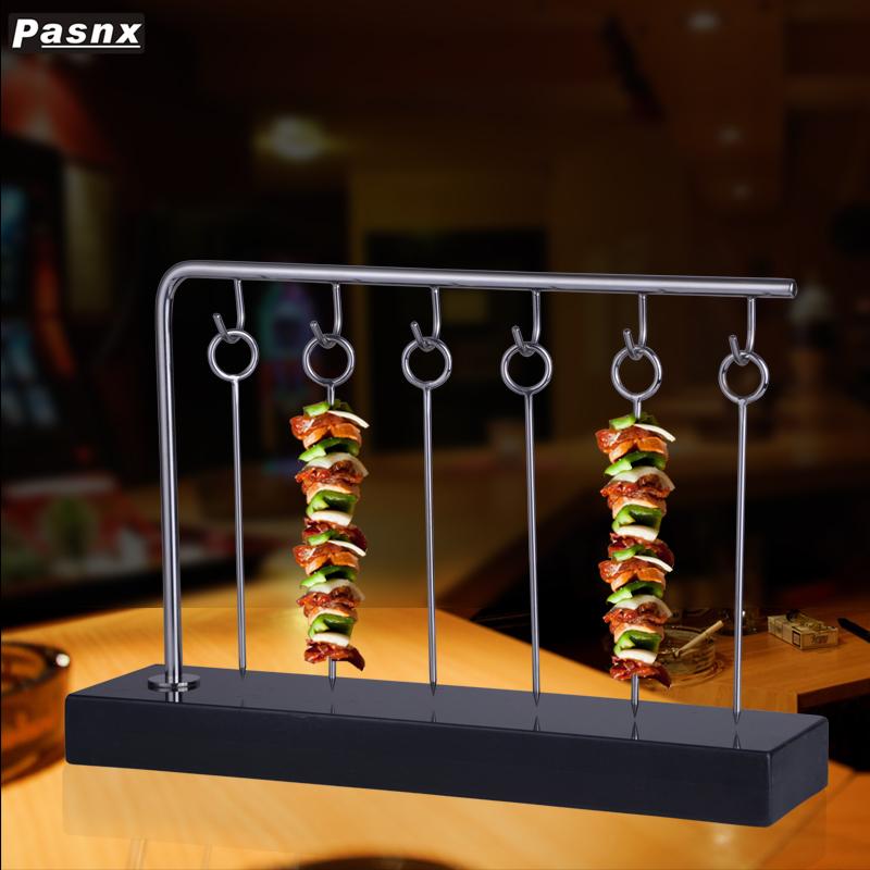 新品不銹鋼方形創意燒烤架精致小型燒烤擱架點心架食物展示架