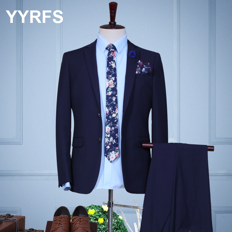 Color: Navy two-button two piece set (Shirt + Pants)