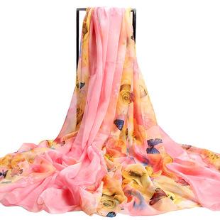 上海故事丝巾女夏季沙滩巾超大防晒披肩春秋百变长款雪纺围巾纱巾