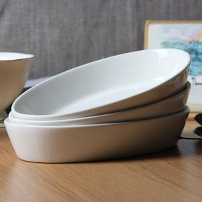 3个装陶瓷芝士焗饭盘子微波炉烤箱碗