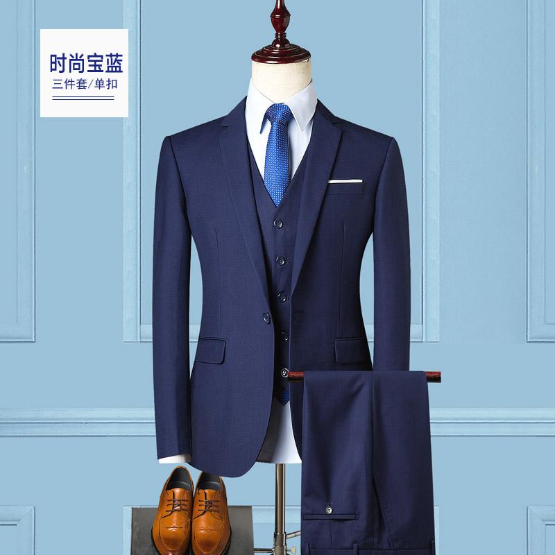 Цвет: Один пряжкой моды сапфирового синего (костюм + жилет)