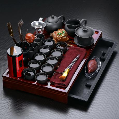 Чайный набор почтовых скидки на весь кунг-фу чай фиолетовый песок море из твердой древесины керамические чай Кубок чай
