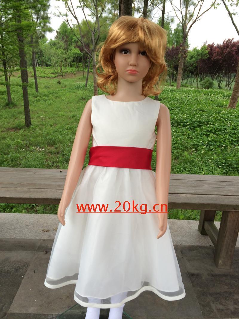 花童禮服六一演出服表演服舞臺服舞蹈服學生學校歌舞禮服公主裙白色80cm(80cm)
