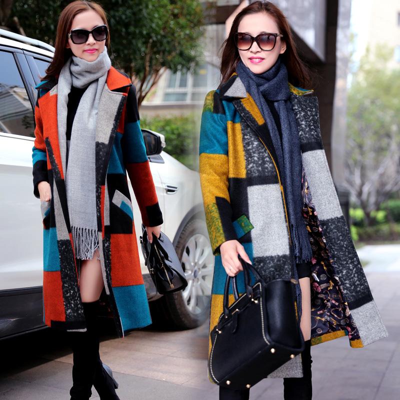 大牌气质女式大衣冬装毛呢外套