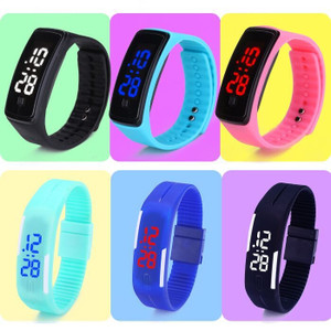 LED bracelet watch sports watch jelly bracelet male and female couple Korean fashion students watch electronic watch