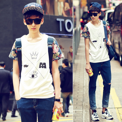 Shipping My- less original 2015 summer new cartoon printing fashion t-shirt men's T-shirt