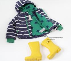 英国单童装春装条纹款男童韩版衣服 宝宝儿童开衫连帽春秋外套