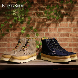 BLESS BOOT 2015 collection - HUNTING 拼皮工装靴休闲鞋