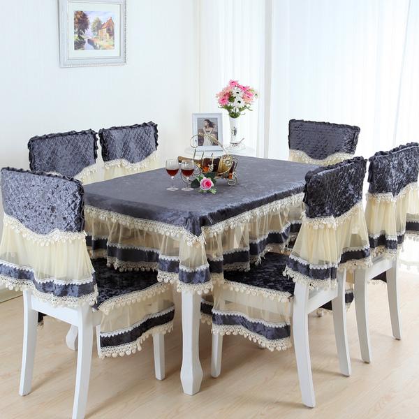 餐桌布椅套坐垫布艺蕾丝台布桌布茶几布欧式餐桌布餐