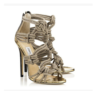 2014 European style high-heeled sandals with cross Shengbang sandal straps zipper bag with hemp rope sandals