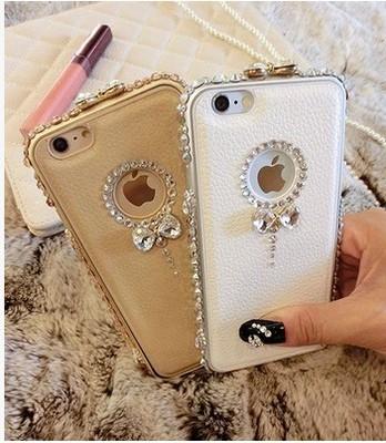 6s镶钻金属边框iphone6plus手机壳5/5s水钻保护套