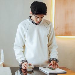 毛衣衬衫帅气十足