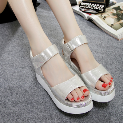 2015 new summer AONISI leisure with Taiwan slope with thick sponge waterproof sandals with student shoes
