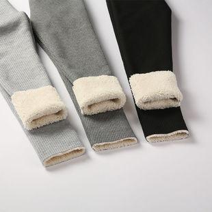 新款羊羔绒女童打底裤加绒加厚宝宝外穿
