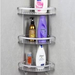 太空铝双层三层转角架网篮厨房壁挂架浴室置物架拐角架三角架