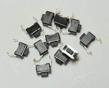 3X6X4.33*6*4.3MM phím điều khiển vi động chuyển 2 chân chen chân