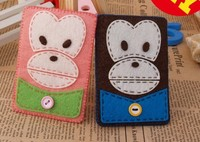 DIY hand weaving production of finished material package free cutting couple cartoon monkey card package