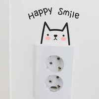 The easy series waterproof decorative wall stickers stickers picture Korean style European style switch switch attached to South Korea