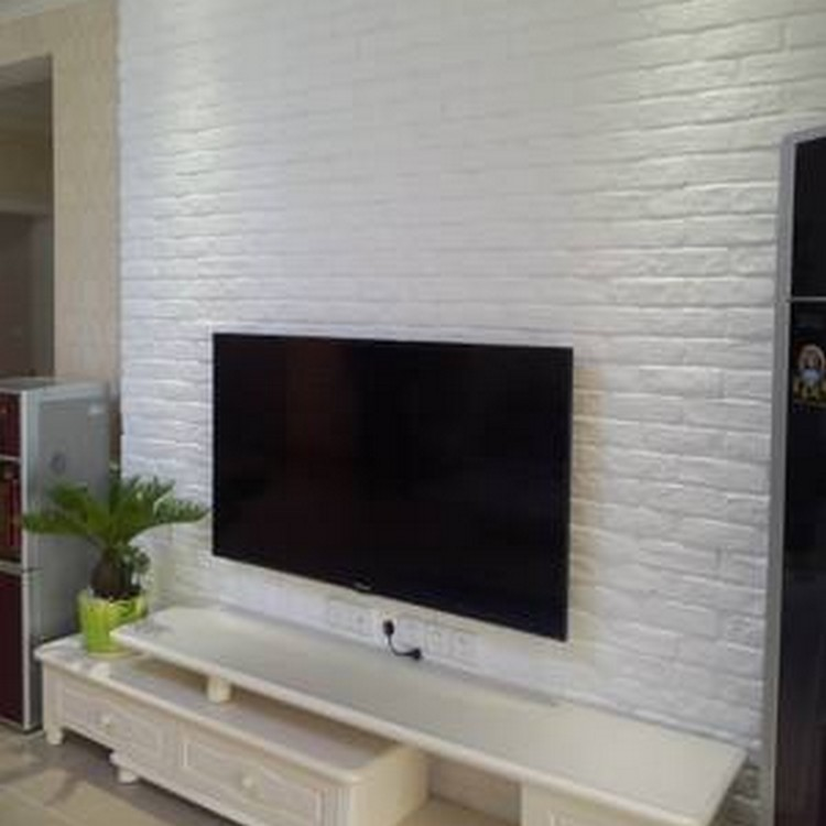 Antique Tile Interior Wall White Culture Brick TV Background Wall Culture  Stone Balcony Indoor Exterior Wall ...