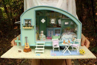 智趣屋diy小屋 时光之旅 手工拼装房子模型玩具创意生日礼物 成品