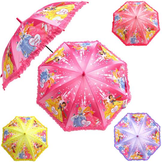 白雪公主雨伞芭比娃娃长柄公主雨伞男女童雨伞奥特曼儿童伞