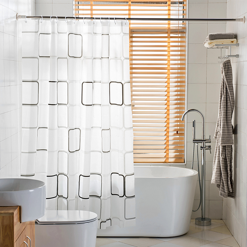 Affordable Bathroom Shower Curtain Ideas Square Stainless