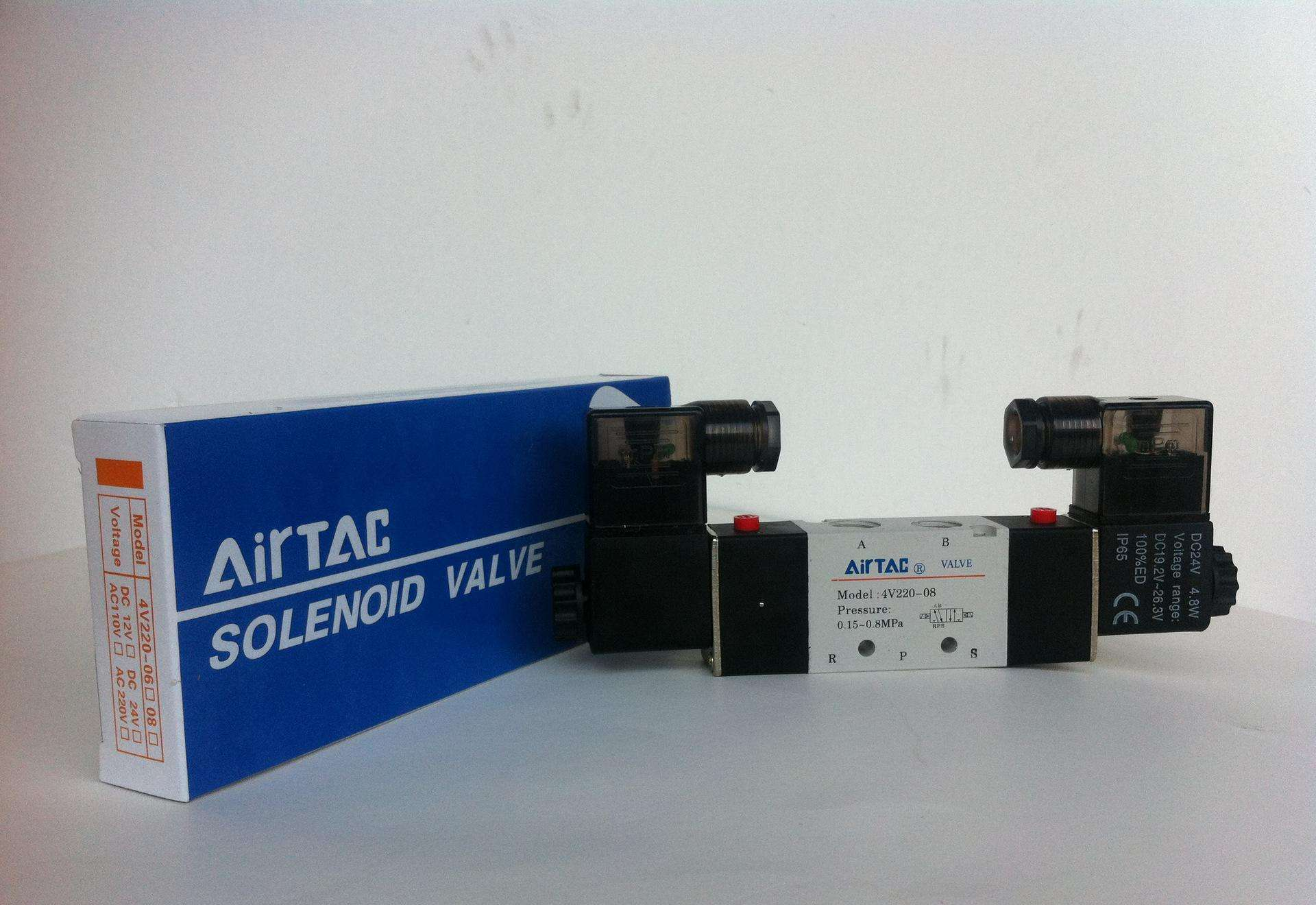 Two. Authentic five single electronic control solenoid valve 4V210-08310-10410-15