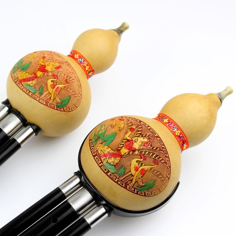 Hulusi instrumentos pequeños adultos principiantes B C D G F desmontable madera jugador profesional de los alumnos