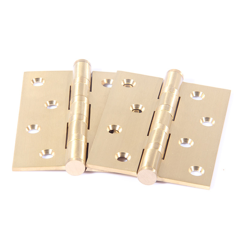 The old copper bearing hinge: hinge hardware fittings of brass sheet 4 inch wooden thickened fold