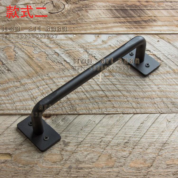 American retro small antique iron handle modern creative wooden cabinet door handle door handle with the barn