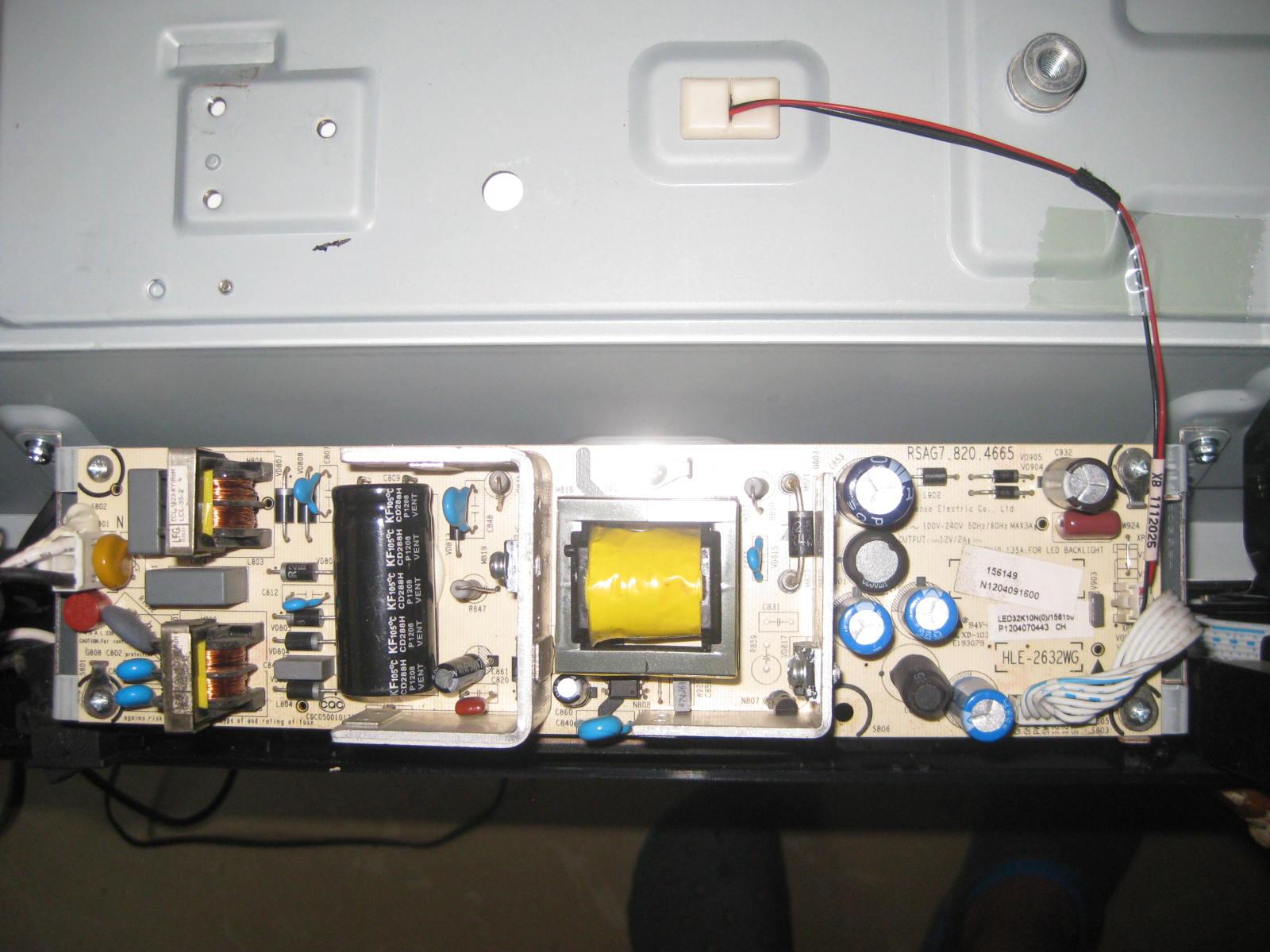LED32K10NLED32K10J Power Board RSAG7.820.4665 hisense - LCD - TV
