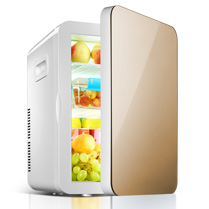 La casa de 20L a bordo de la nevera mini refrigeradores domésticos de refrigeración aire acondicionado coche dormitorio doble propósito
