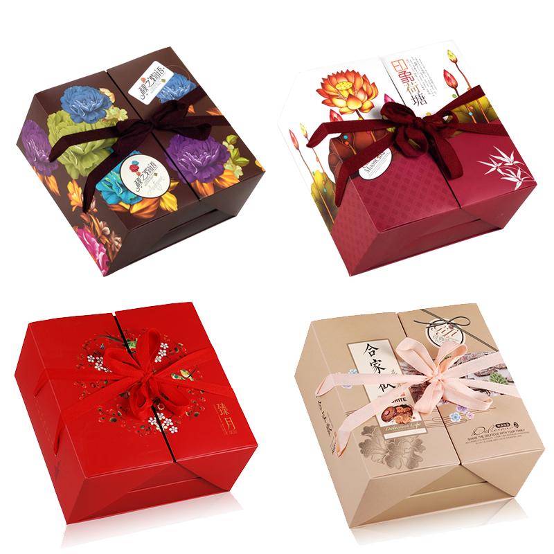 škatla piškotov, pecivo speci torto z jesenskim festivalom dvojno pakiranje škatel ustvarjalnost na prenosni 8 kapsul